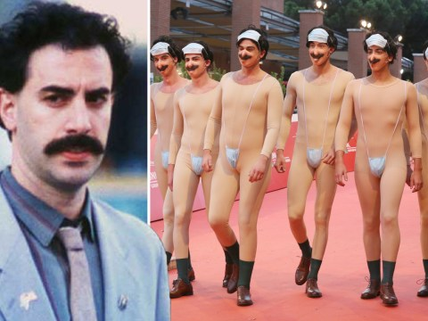 Eight Borats walk red carpet in place of Sacha Baron Cohen at Rome Film Festival because why not?