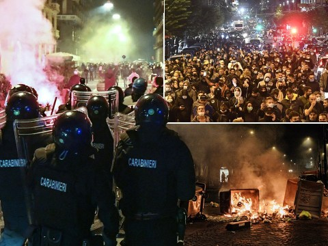 Violence erupts at lockdown protest in Naples as curfew imposed to curb virus