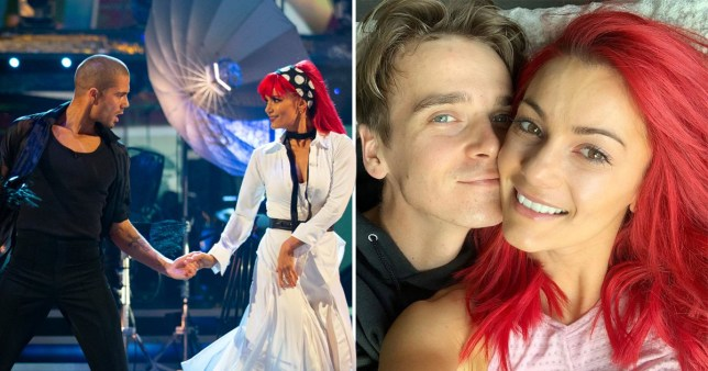 Strictly Come Dancing's Dianne Buswell and her partner Max George and boyfriend Joe Sugg