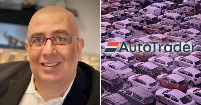 Ehab Shouly, 47, from Cranleigh, Surrey, who wants to take Auto Trader to the High Court after he was attacked by thieves and run over with his own BMW X5 after advertising through the site - and Auto Trader branding