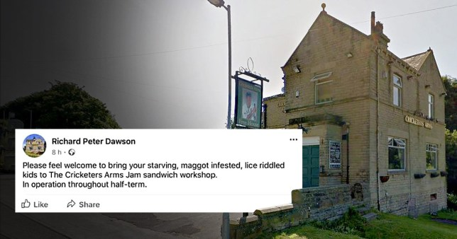 Richard Dawson, owned of the Cricketers' Arms in Vaildon, sparked backlash with his 'joke' about free school meals.