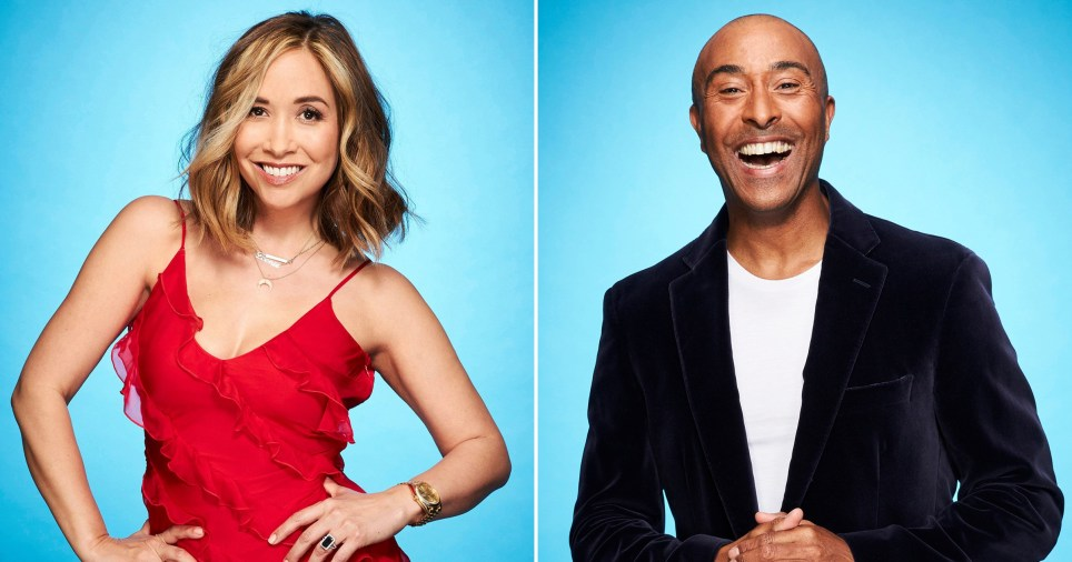 Myleene Klass and Colin Jackson on Dancing On Ice