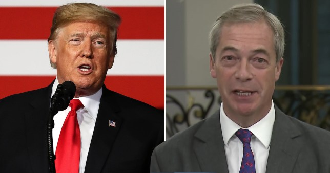 Farage praises Trump after Arizona rally