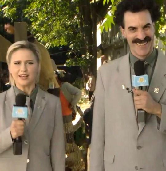 Maria Bakalova and Sacha Baron Cohen in Borat 2