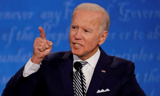 Democratic presidential nominee Joe Biden speaks as he participates in the first 2020 presidential campaign debate with U.S. President Donald Trump in Cleveland, Ohio, on September 29, 2020.