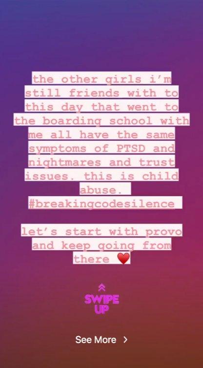 Paris Jacksons Instagram-Geschichte, in der sie Paris Hilton unterstützt und enthüllt, dass bei ihr nach dem Besuch eines ähnlichen Internats PTBS diagnostiziert wurde