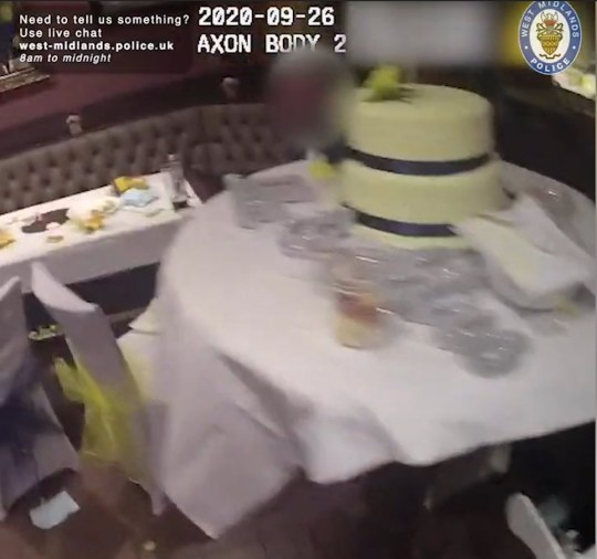 Police find wedding party being held after 10pm at Erdington pub CREDIT: West Midlands Police