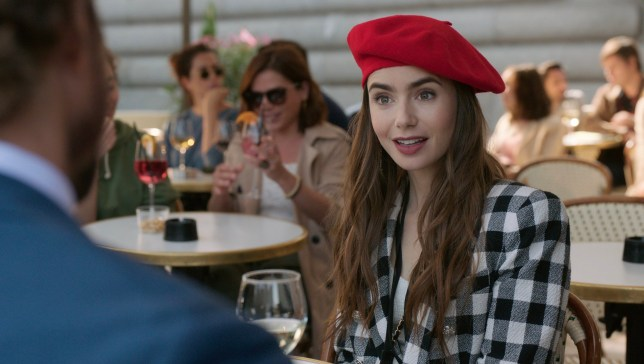 A scene showing Lily Collins as Emily in Emily in Paris