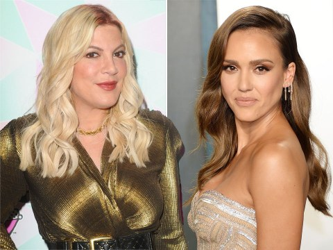 Tori Spelling and Jennie Garth respond to Jessica Alba's Beverly Hills, 90210 'no eye contact' claim