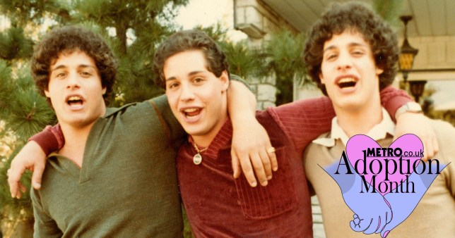 Three identical strangers.Left to right: Edward Galland, David Kellman, Robert Shafran.Location: New York 1980
