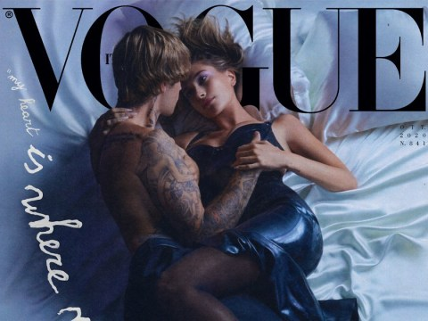 Justin Bieber and Hailey Baldwin get steamy on the cover of Vogue Italia to celebrate anniversary