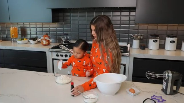 Kylie and Stormi making cookies is literally too cute for words