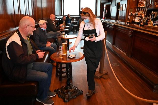 a waitress in a pub in scotland