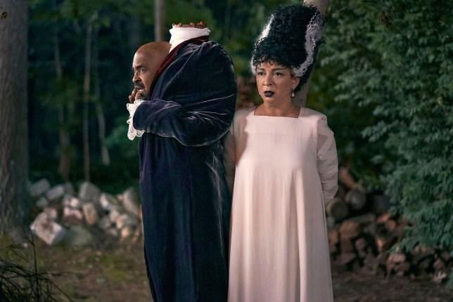 Tim Meadows and Maya Rudolph in Hubie Halloween.