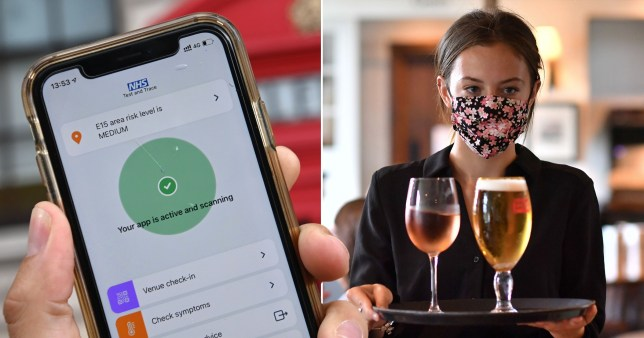 Contact-tracing app has only sent one alert about an outbreak in a venue (Picture: Getty)