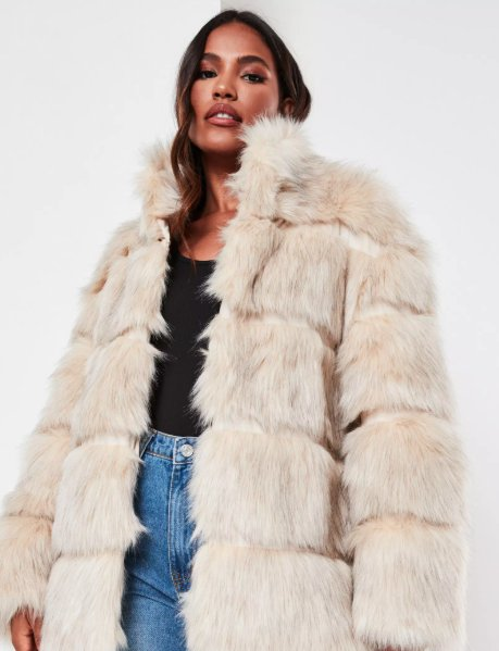 a faux fur coat from missguided