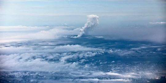 Grímsvötn volcano when it erupted in 2011