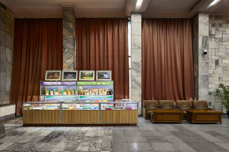 hotels of pyongyang book captures hotel interiors and staff in north korea's capital city:  gift shop in hotel