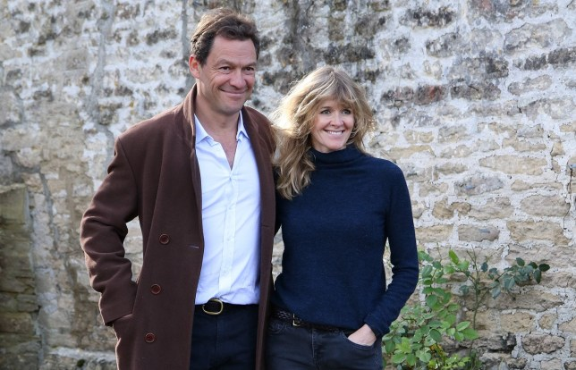 Dominic West and His Wife Catherine FitzGerald Seen Together At Their Family Home After Pictures Emerged Of The British Actor Kissing Younger Beauty Lily James In Rome. The Pair Said They Are Staying Together. Pictured: Dominic West,Catherine FitzGerald Ref: SPL5192311 131020 NON-EXCLUSIVE Picture by: MIKE / SplashNews.com Splash News and Pictures USA: +1 310-525-5808 London: +44 (0)20 8126 1009 Berlin: +49 175 3764 166 photodesk@splashnews.com World Rights,