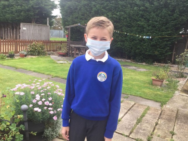 A furious couple are refusing to allow their son to return to his Lincolnshire school after the headteacher denied their request for him to wear a mask. Paul and Michelle Meade had hoped their 10-year-old son Kieron could return to Friskney All Saints on Friday, October 10 on the condition he could wear a face covering. caption: Kieron Meade is being kept off school by his parents after the head teacher refused their request for him to wear a face mask while learning