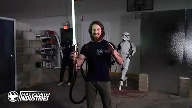Picture: Hacksmith Industries Engineer creates first real retractable plasma lightsabre