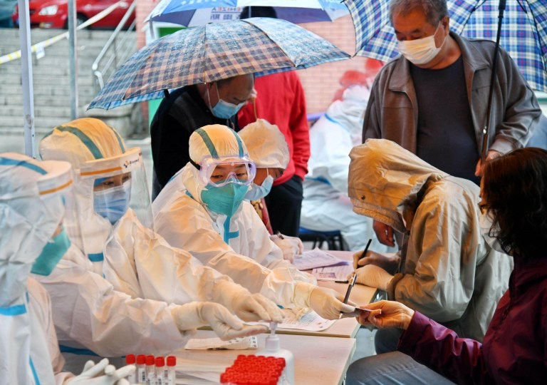 Alamy Live News. 2D5JDWH Qingdao, China's Shandong Province. 14th Oct, 2020. Citizens register for COVID-19 tests at a testing station in Shibei District of Qingdao, east China's Shandong Province, Oct. 14, 2020. Over 5.6 million samples for nucleic acid testing have been collected by 8:30 p.m. on Tuesday in east China's Qingdao, after it began a city-wide testing campaign on Monday. Credit: Li Ziheng/Xinhua/Alamy Live News This is an Alamy Live News image and may not be part of your current Alamy deal . If you are unsure, please contact our sales team to check.