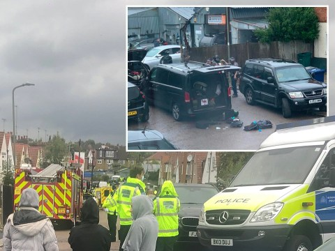 Man, 32, charged after 10 police officers injured in 'acid attack' during raid