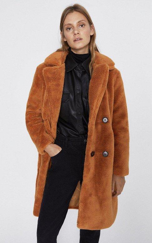 Cinnamon Double Breasted Midi Teddy Coat (Picture: WarehouseFashion)