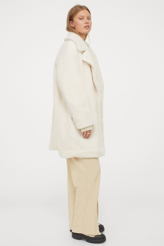 Faux shearling coat (Picture: H&M)