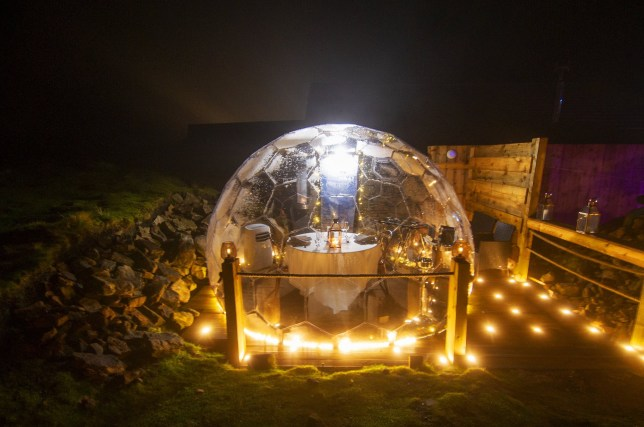Andrew Hields, the owner of Tan Hill Inn, Britain's highest pub, has installed pods for diners to stargaze whilst enjoing their meal in private.