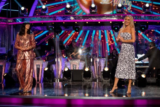 Tess Daly and Claudia Winkleman presenting Strictly Come Dancing 2020