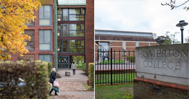 Images of West House, Homerton College, where students have been told to self-isolate as a preventative measure after 18 cases in 11 households