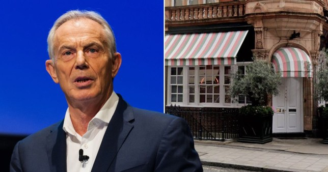Tony Blair accused of breaking covid rules Getty/Google Streetview