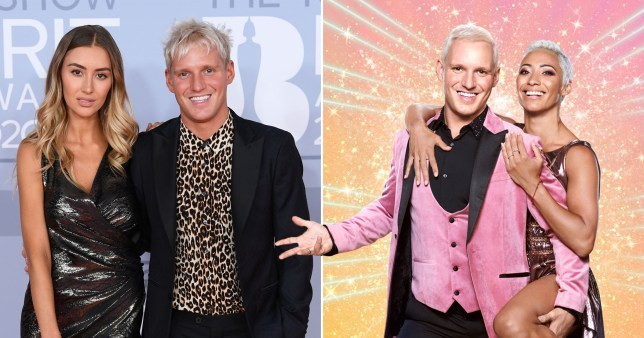 Strictly's Jamie Laing wears girlfriend's clothes