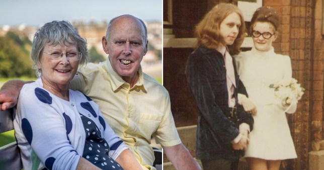Couple pictured 50 years ago and now