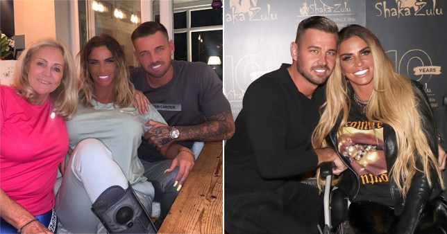 Katie Price, Amy Price and Carl Woods