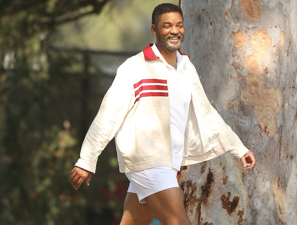 Will Smith on King Richard set