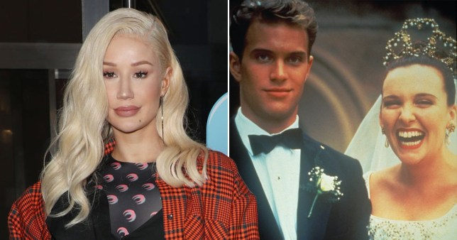 Iggy Azalea pictured alongside still from Muriel's Wedding