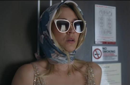 Kaley Cuoco wakes up in bed with a dead man as first The Flight Attendant trailer is released