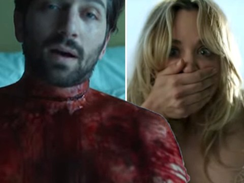 Big Bang Theory's Kaley Cuoco wakes up next to a dead man in first The Flight Attendant trailer