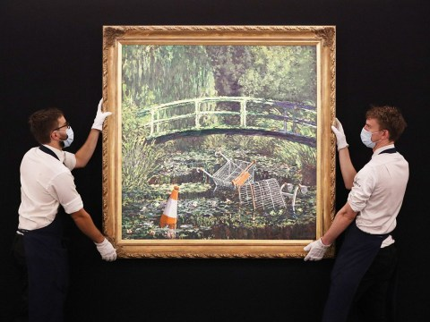 Banksy's parody of Monet's Water Lilies sells for £7,600,000