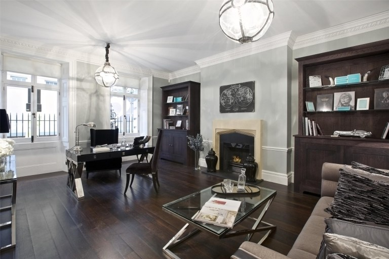 study on the ground floor of the mayfair mansion