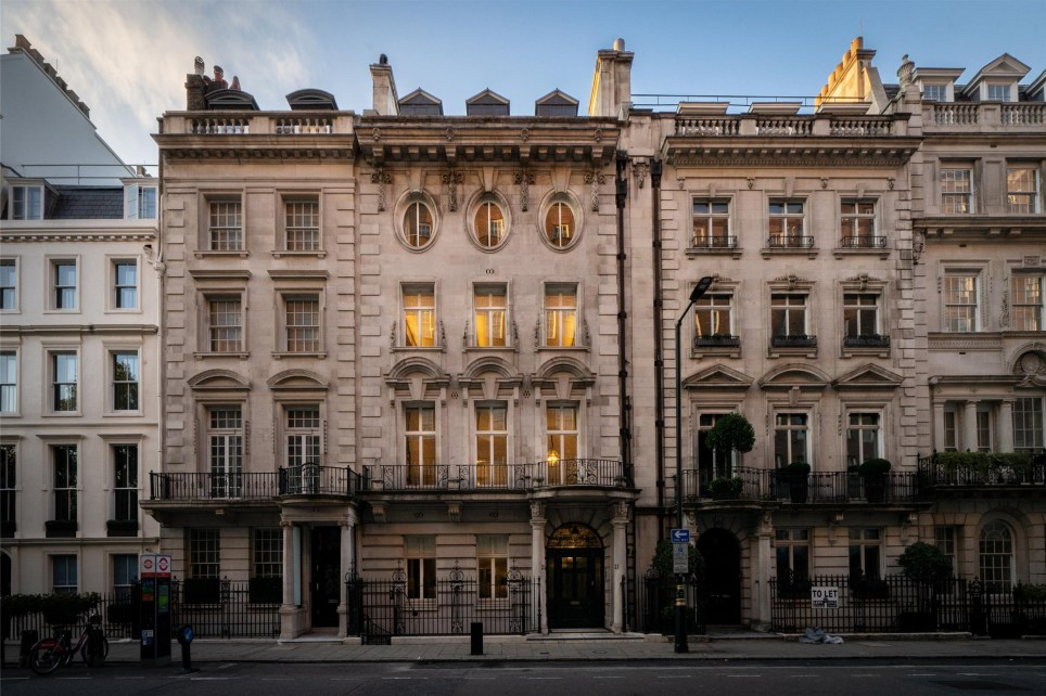 mansion for sale on upper grosvenor street