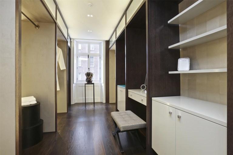 dressing room in mayfair mansion