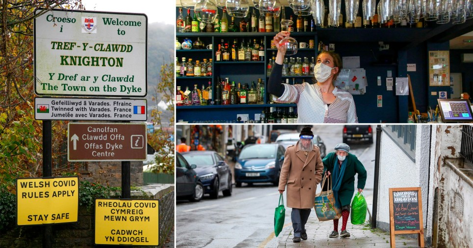 The England/Wales border town where only one side is facing new restrictions