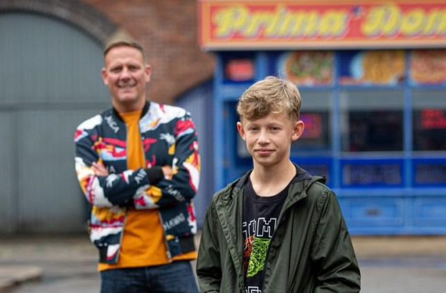 Dylan Wilson and Sean Tully on Coronation Street.