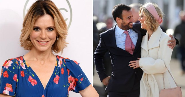 Emilia Fox pictured on red carpet and with fiance Luc Chaudhary