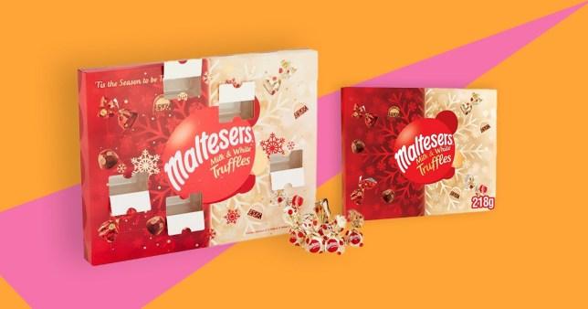 Mars Maltesers white and milk chocolate truffles advent calendar