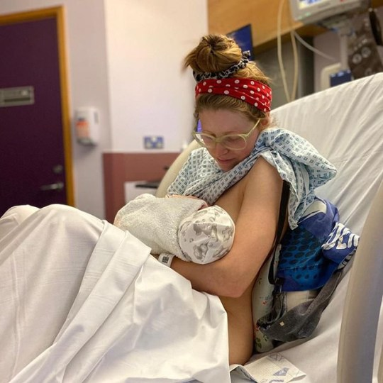 Harry Potter star Jessie Cave's baby son hospitalised with ...