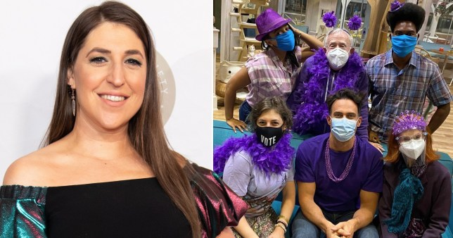 Life after The Big Bang Theory: Mayim Bialik's Miranda reboot - behind the scenes of Call me Kat (Picture: Getty, @missmayim/Instagram)
